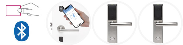 Electronic Hotel Lock with proximity and bluetooth opening