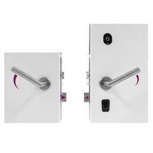 EVO Electronic Hotel Lock with Privacy by Double Reversible Handle