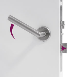 EVO Electronic Hotel Lock with Reversible Handle Privacy